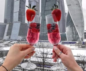 champagne, fancy, and winter image