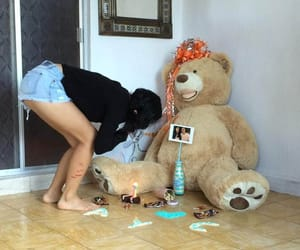 bear, couple, and gift image