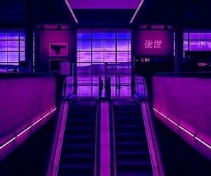 aesthetic, purple, and neon image