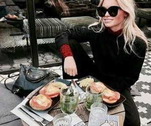 food, girl, and drink image