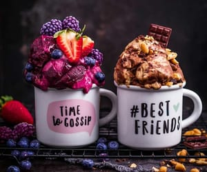 blueberries, rustic, and chocolate image
