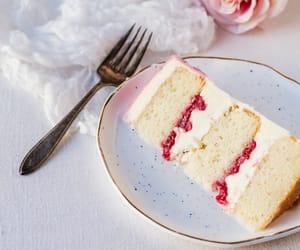 cake, dessert, and jam image
