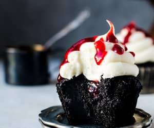cupcake, black, and chocolate image