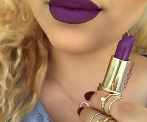lips, violet, and lipstick image