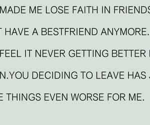 lost friend, no friends, and friendship sucks image