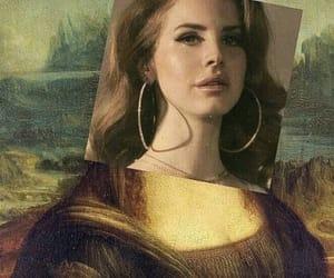 art, mona lisa, and lana del rey image