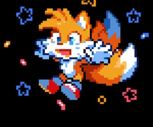 edit, pixel, and fox image