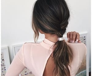 brown, stylé, and long hair image