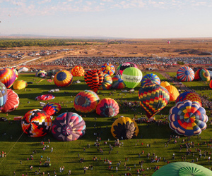 balloons, beautiful, and people image