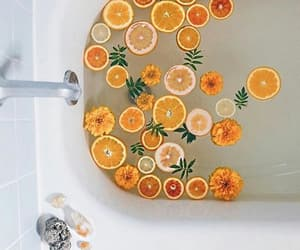 bath, orange, and relax image