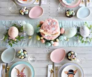dinnerware, easter, and porcelain image