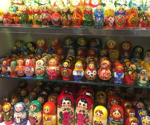 colorful, russia, and doll image