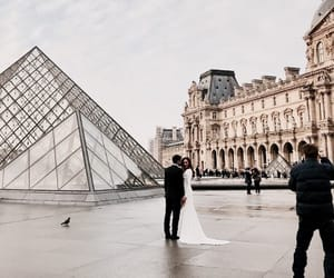 buildings, city, and louvre image