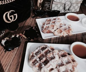 food, waffles, and gucci image