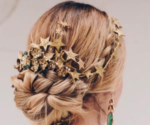 beautiful, gold, and hairstyle image