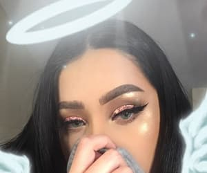 girl, angel, and makeup image