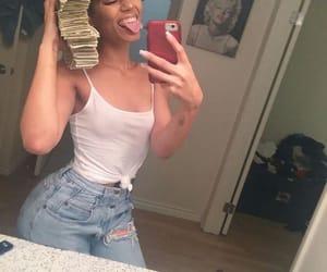 girl, money, and baddie image