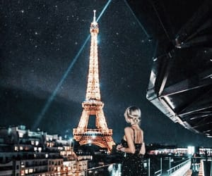 buildings, nights, and paris image