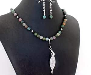 beaded necklace, necklace earrings, and drop dangle earrings image