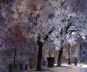art, spring, and trees image