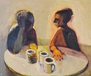 coffee, love, and art image