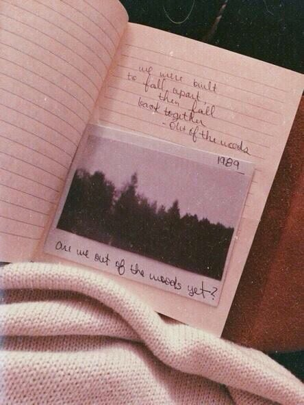 1989, Taylor Swift, and out of the woods image