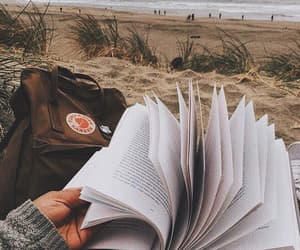 book, beach, and aesthetic image