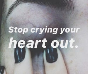 crying, phrases, and broke heart image