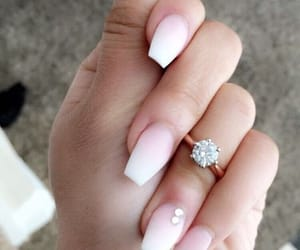manicure, nails, and french nails image