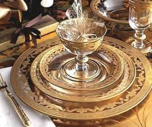 gold, porcelain, and style image