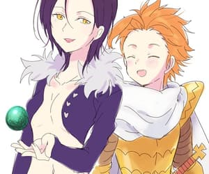king arthur, merlin, and seven deadly sins image