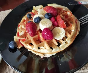 breakfast, FRUiTS, and waffel image