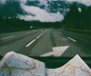 map, travel, and road image