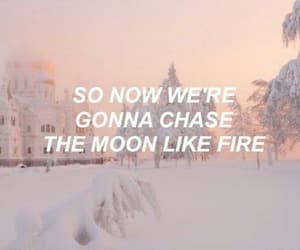 aesthetic, moon, and snow image