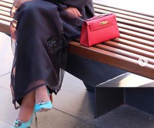 bag, heels, and abaya image