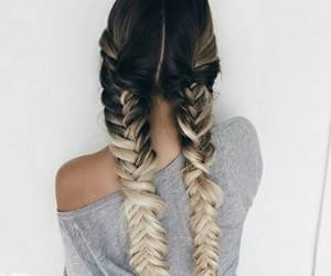 beautiful, girl, and hair image