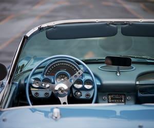 blue, cars, and Corvette image