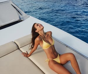 beach, trip, and bikini image