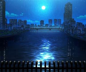 anime, stars, and city image