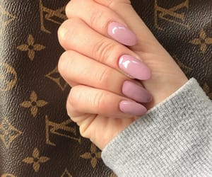 nails, almond, and Louis Vuitton image