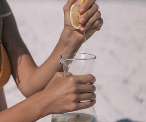 lemon, summer, and beach image