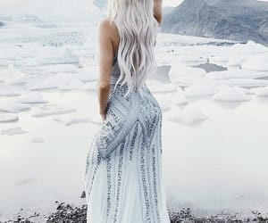 beauty, white, and blonde image
