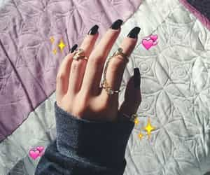 rings and black coffin nails image