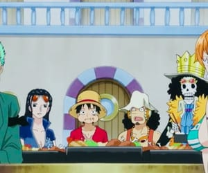 brook, one piece, and luffy image