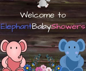 etsy, elephant baby shower, and etsy shop image