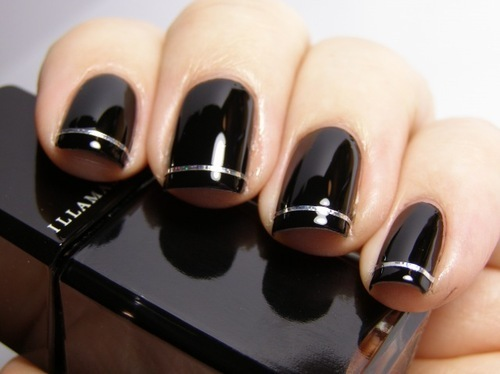 Black Cute Nail Art Polish Inspiring Picture On Favim