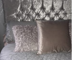 bedroom, pillow, and sparkly image