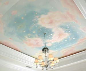 blue, interior, and pastel image