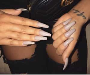 nails, tattoo, and gucci image