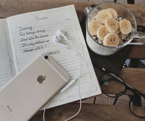 autumn, bananas, and notebook image